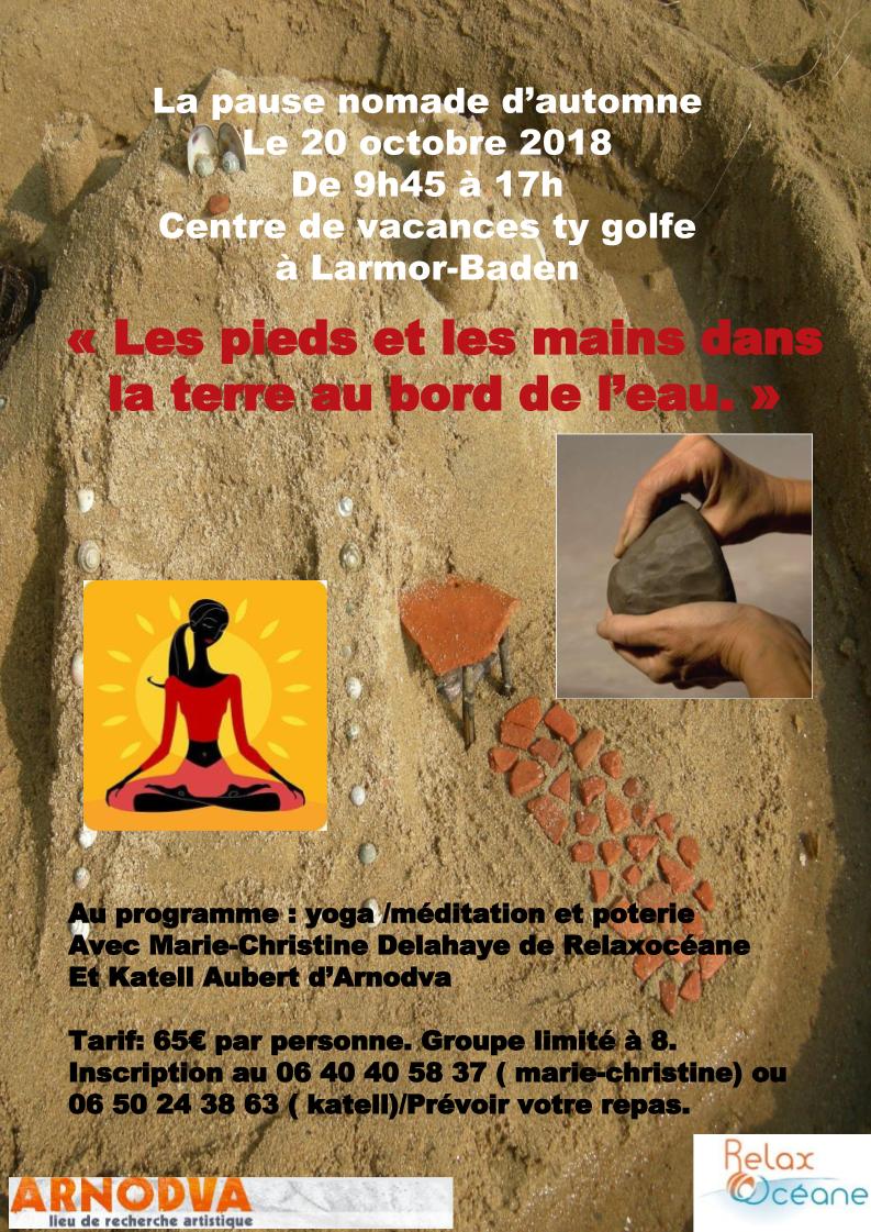 Pause nomade d'automne 20 octobre 2018: yoga,méditation et poterie